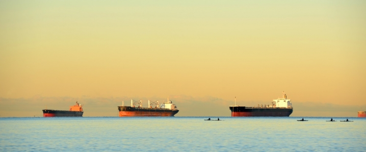 Sunset oil tankers