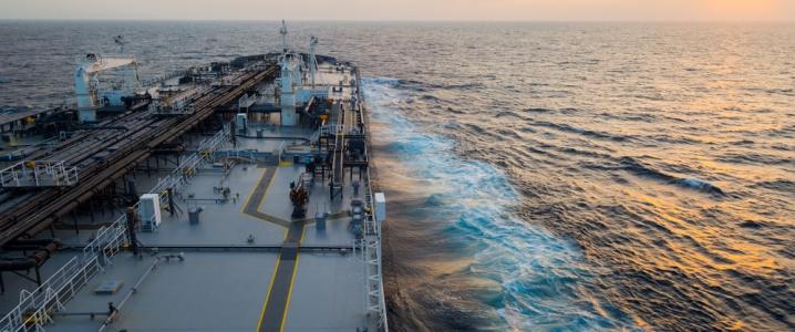 Tanker at sea