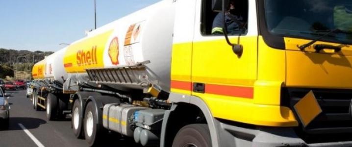 Shell gasoline truck