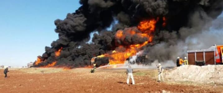 ISIS oil tank trucks