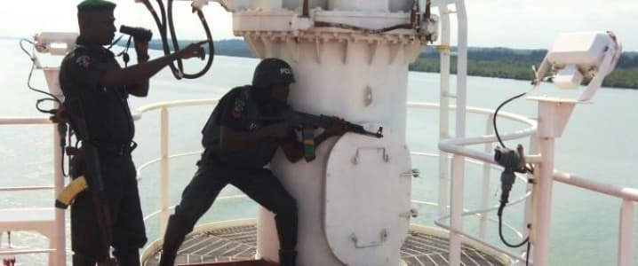 Nigerian forces in the Niger Delta
