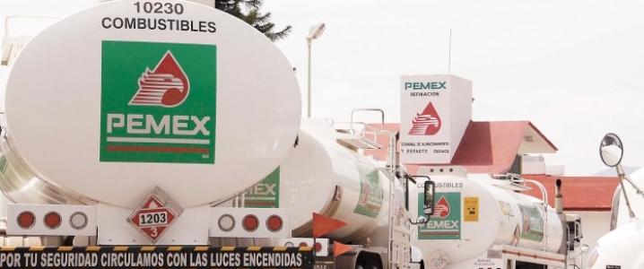 Pemex fuel trucks