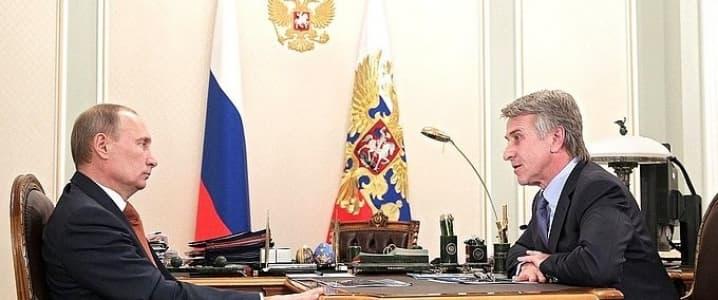 Leonid Mikhelson and Vladimir Putin