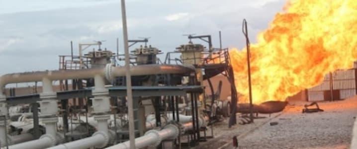 Agip pipeline damage