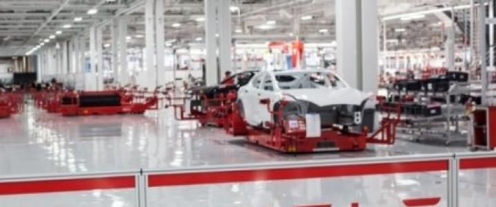 Tesla assembly line