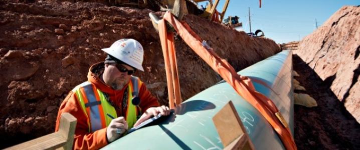 Keystone XL construction