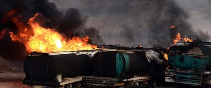 Fuel tanker crash