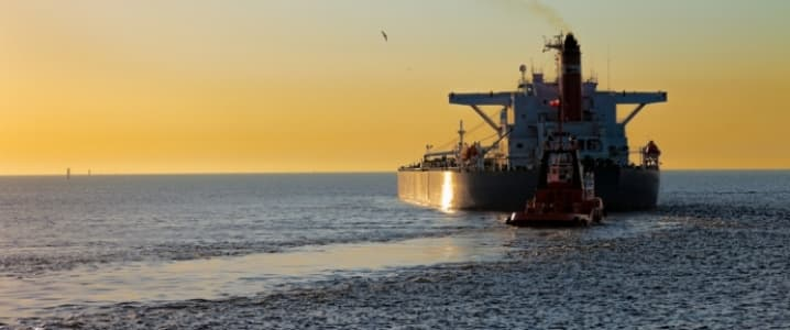 Oil Tanker Sunset