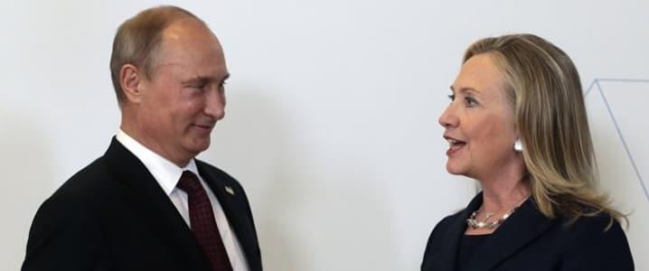 Putin and Clinton