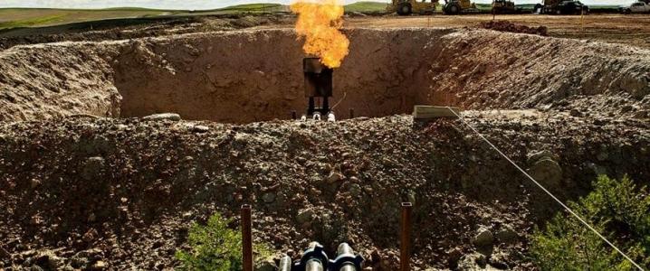 Oil flaring