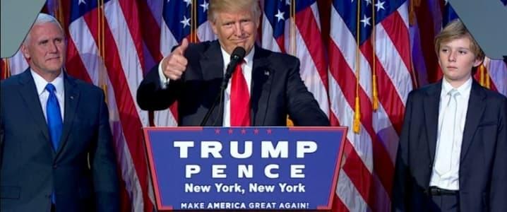 Trump on stage