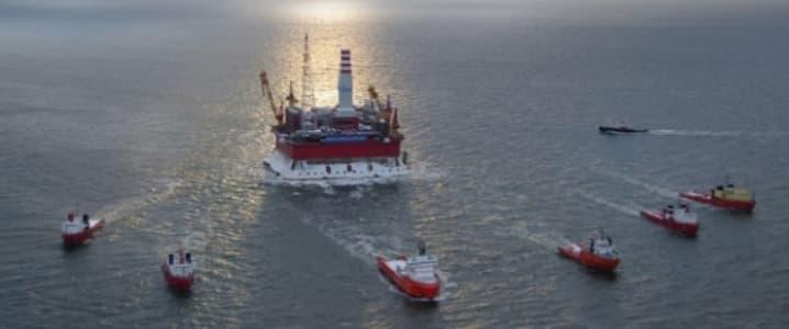 Gazprom neft offshore rig