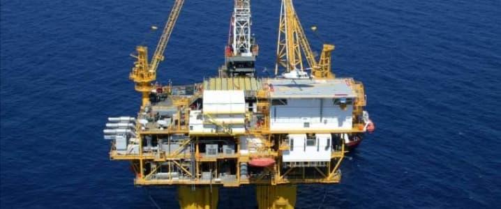 Yellow sea oil platform