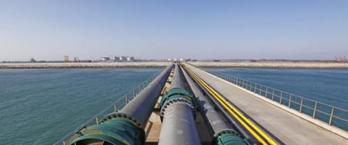 Oil pipeline Gulf of Mexico