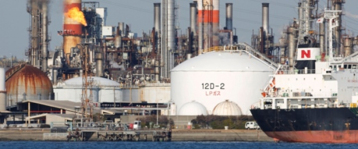 oil refinery Japan