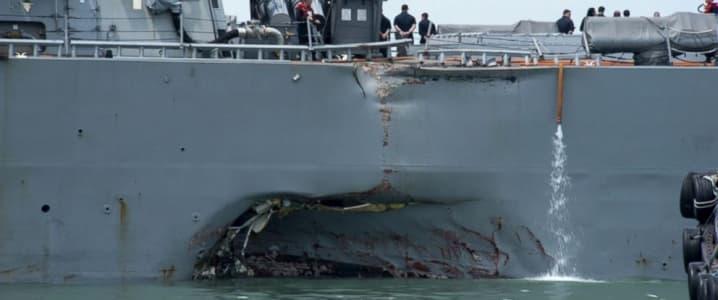 Oil Tanker, U.S. Destroyer Collide In Singapore Strait