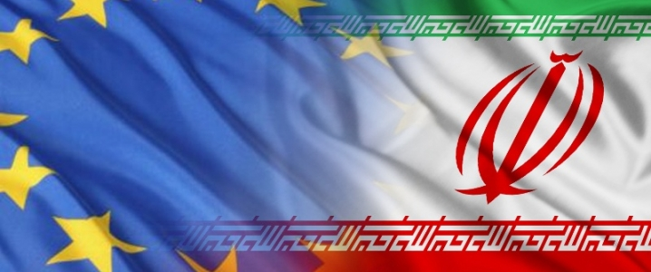 Iran EU flags