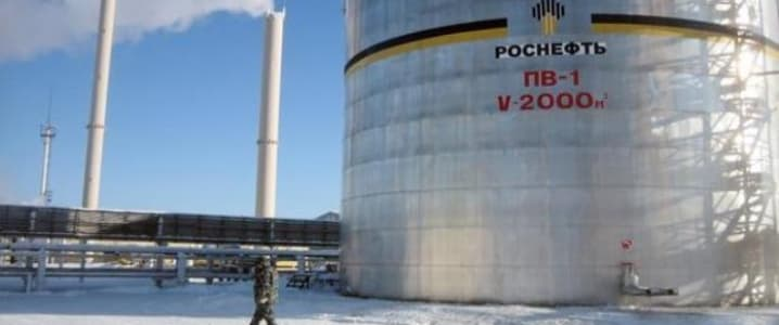 Rosneft icey storage tank