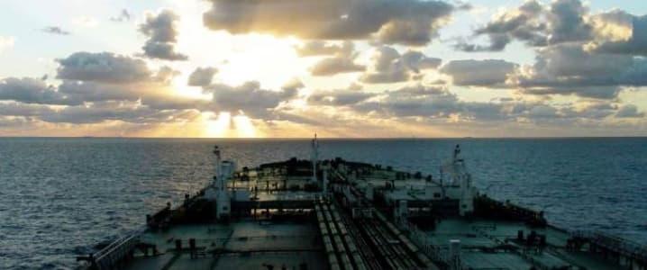 VLCC at sea