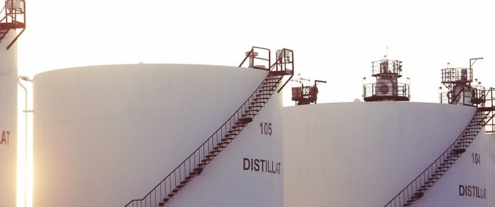 Distillates tanks