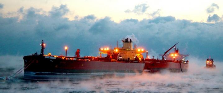 oil tankers docked