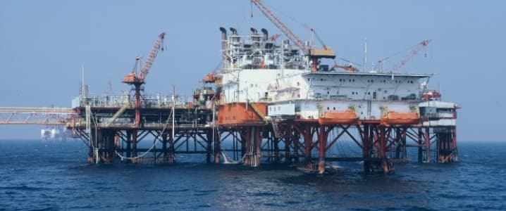 Black sea oil rig
