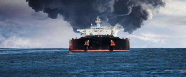Oil tanker at sea