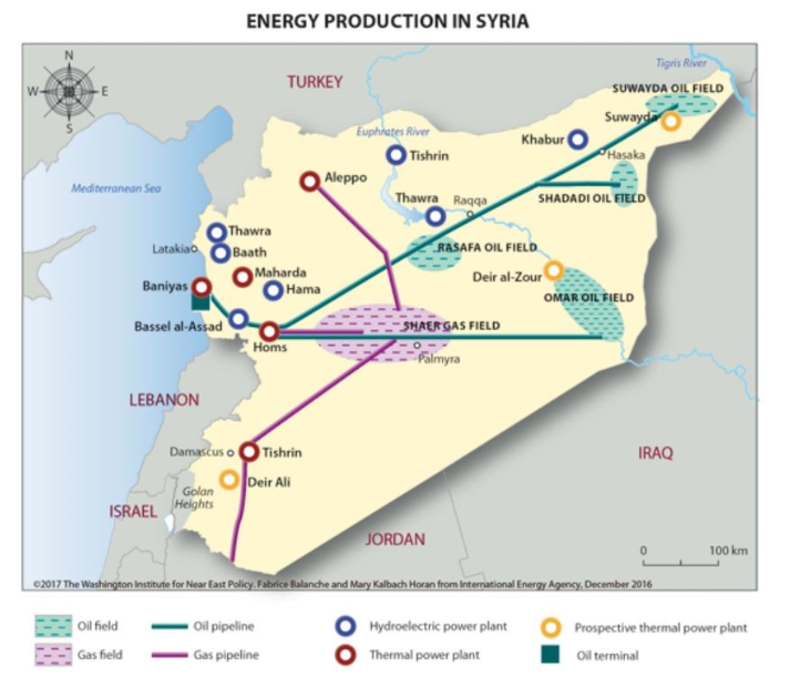 The Battle For Syrias Oil Region Oilpricecom - Us-oil-fields-map